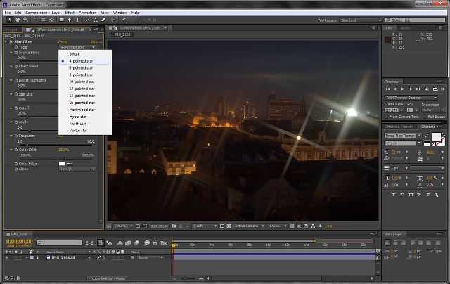 Scarab Star Filter plug-in Adobe After Effects